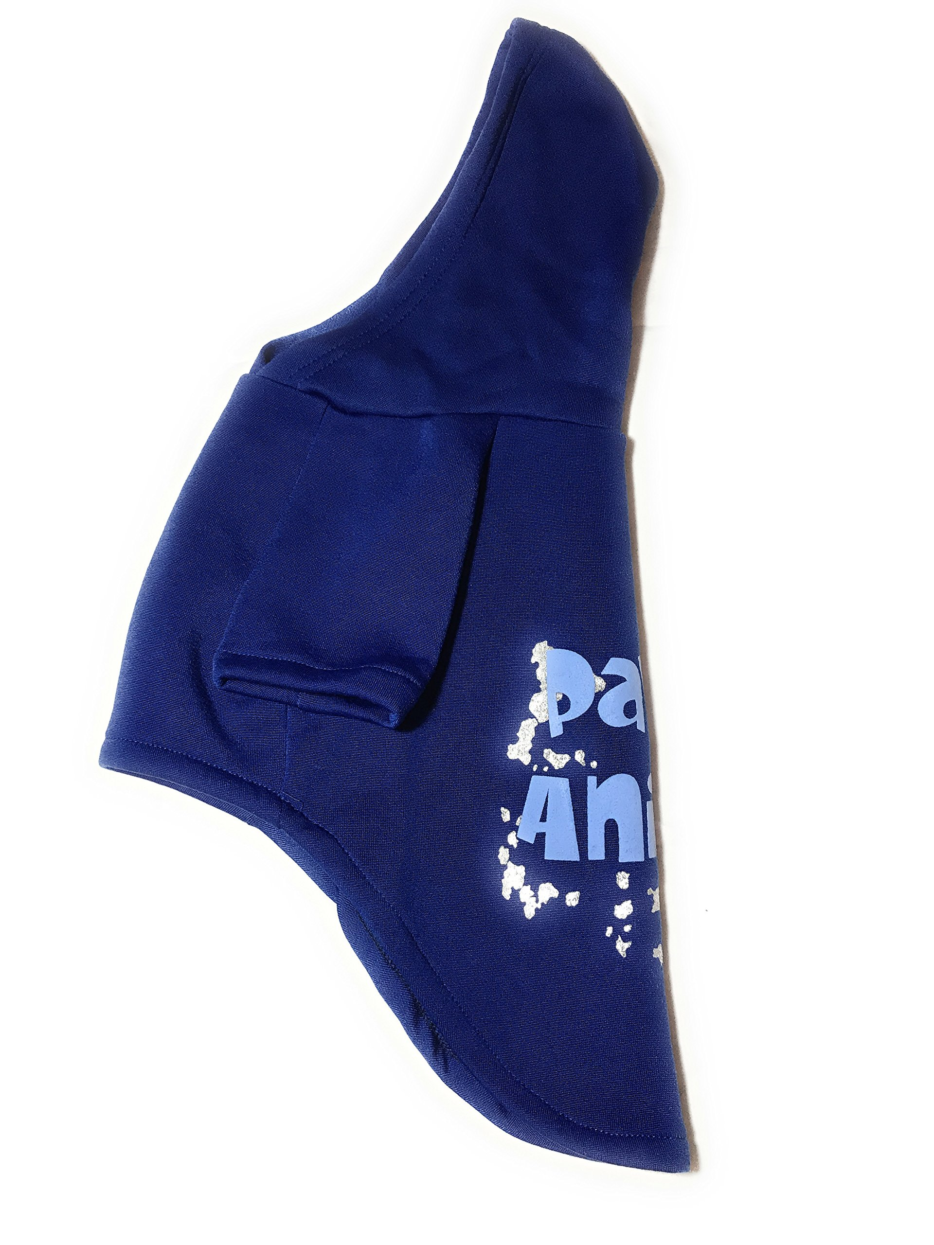 Dog or Puppy Sweater Hoodie ´Party Animal´ Blue and Silver for Large or Extra Large Pets XL size/ Extra Large Fashion and Funny Hoodie Shirt Petmont Brand For Boys Or Girls by Petmont (Image #3)