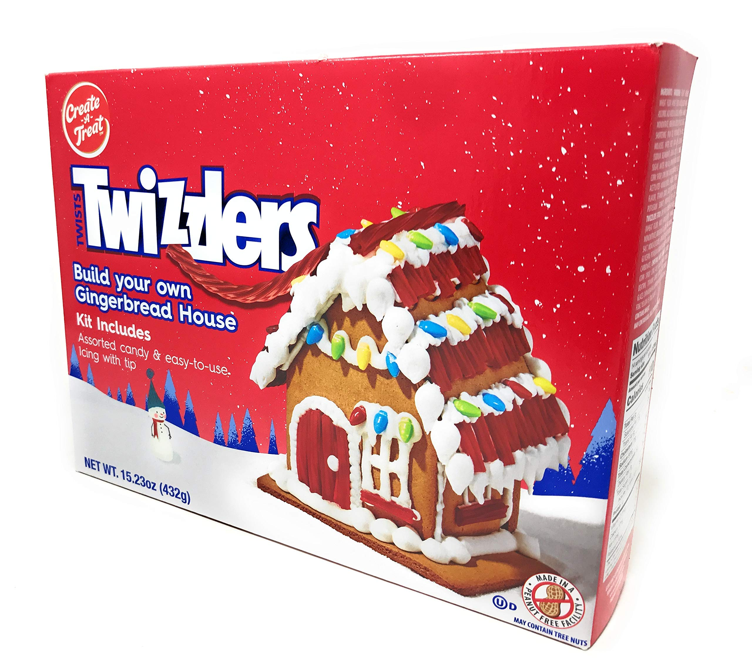 Create-A-Treat E-Z Twizzlers Gingerbread House Kit, 15.23 oz.