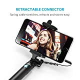 Selfie Stick, Anker Extendable [Battery Free] Wired Handheld Monopod for iPhone SE/6s/6/6 Plus, Samsung Galaxy S7/S6/Edge, Nexus 6P, Moto X/G and More, Not Compatible with iPhone 7/7 Plus/8/8 Plus/X