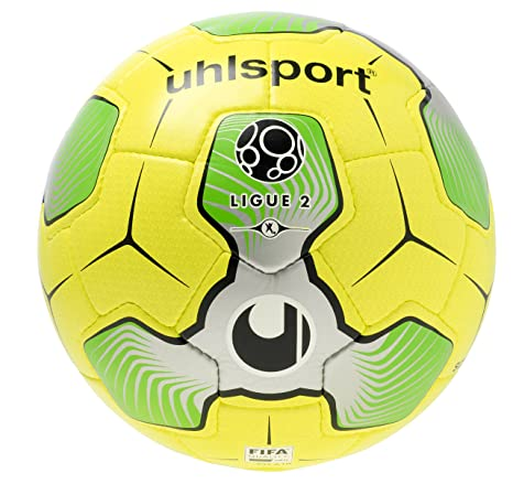 uhlsport 1001545012016 Liga 2 balón de Match, Color Amarillo/Plata ...