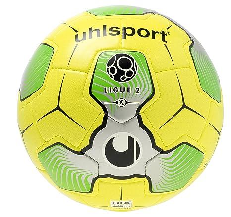 uhlsport 1001545012016 Liga 2 balón de Match, Color Amarillo/Plata ...