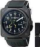 Bell & Ross Men's BR01-97CLIMB Flight Instruments Analog Display Swiss Automatic Black Watch