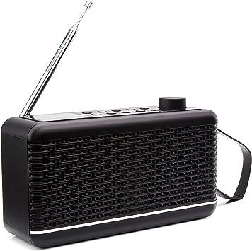 Sky Vision Dab Radio Digital Radio Dab Dab Radio With Bluetooth Dab Plus Radio Small With Speaker Portable Digital Radio For Travelling Black Home Cinema Tv Video