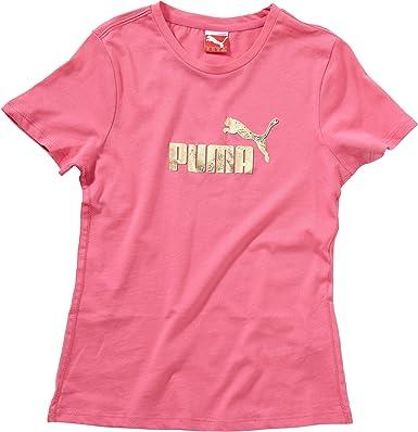 PUMA - Camisa de Acampada y Senderismo Infantil, tamaño 116, Color Rosa: Amazon.es: Ropa y accesorios