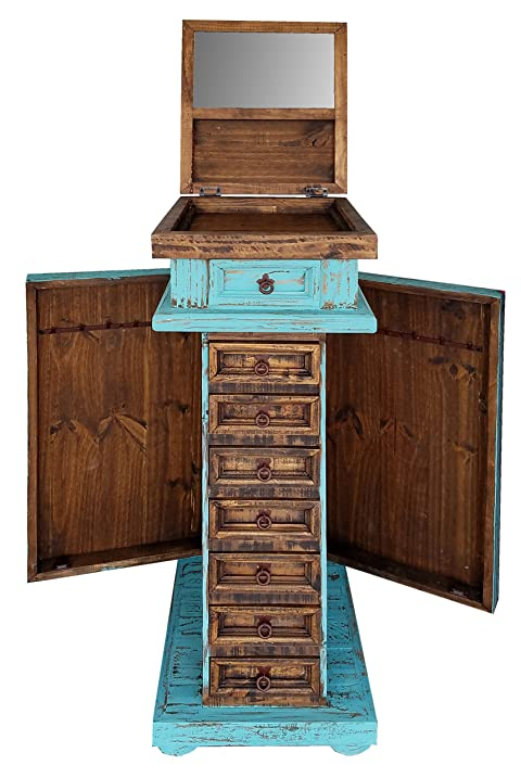 Rustic Jewelry Armoire Cool Amazon Rustic Western Jewelry Armoires Solid Wood Already