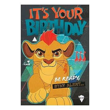 Hallmark Lion King Birthday Card Be Ready Medium Amazon