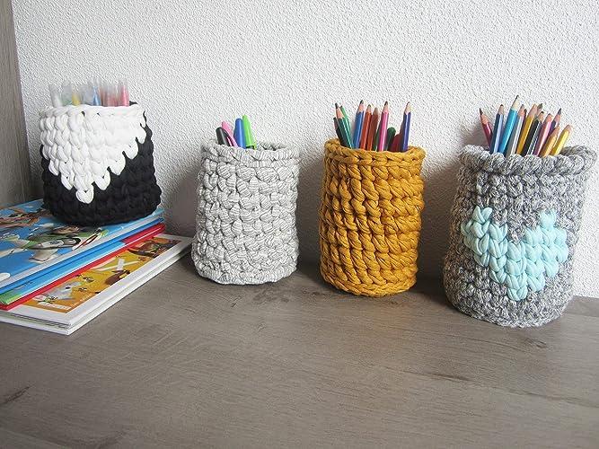 Pot crayon ou feutres pour bureau enfant ou adulte pot de