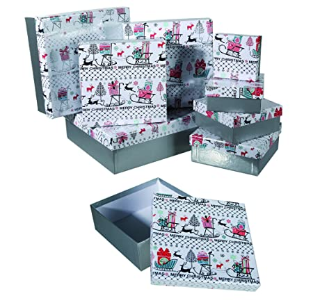 Great Alternative Wrapping - Set of - Christmas   Xmas Gift Boxes -  Christmas Decor - 48ca6d006