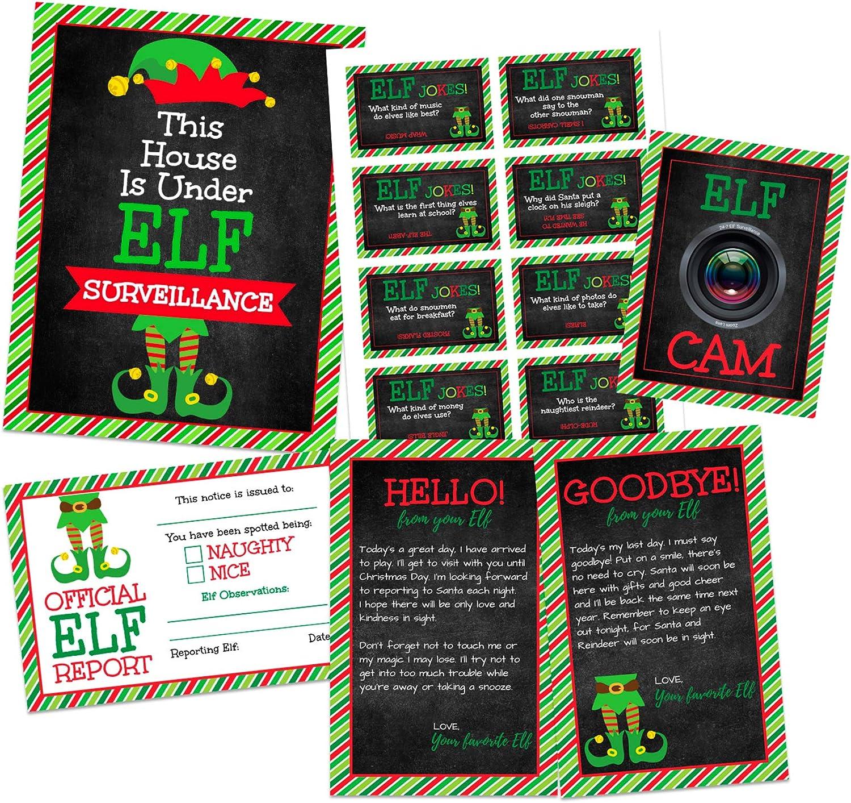 Plush Girl Elf Christmas Character Xmas Gift Box Kit Letter To Santa Elf Reports