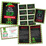Pink Pixie Studio 39 Piece Ultimate Christmas Elf Activity Kit- Surveillance Sign, Elf Cams, Welcome & Goodbye Letter…
