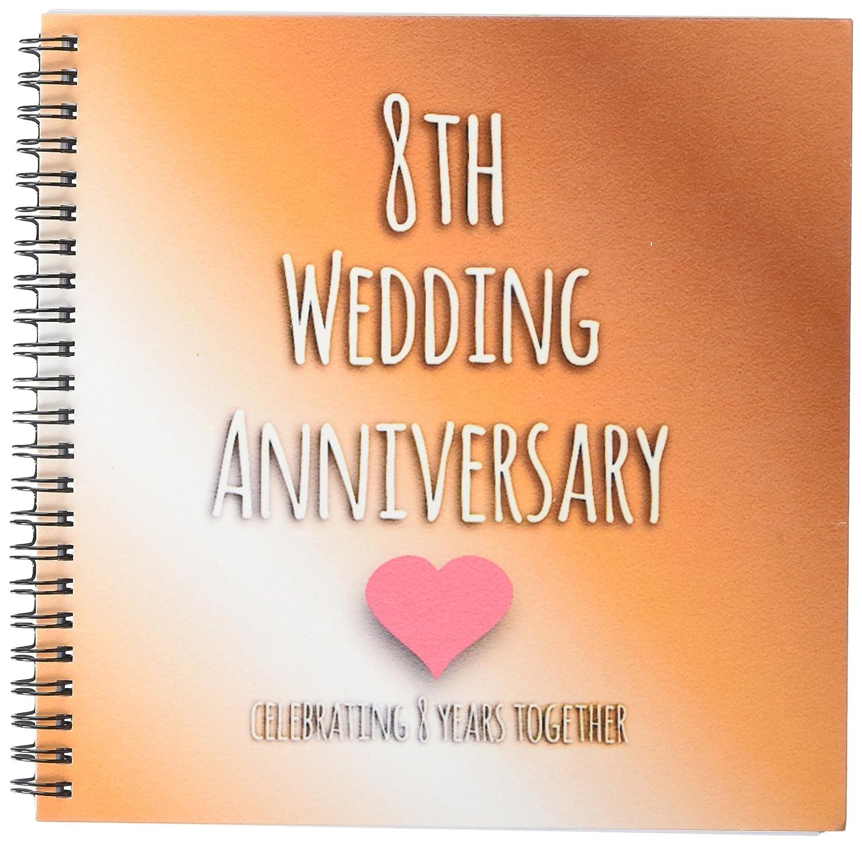 Amazon.com: 3dRose db_154439_1 8th Wedding Anniversary Gift Bronze ...