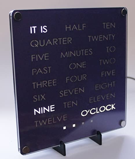 Dougs Word Clock By SDM  Custom Hand Crafted Quality Desktop Clock In Your  Color.