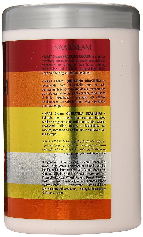 Amazon.com : Nunaat Naat Hair Cream, Brazilian Keratin, 35.2 Ounce : Hair Styling Treatments : Beauty