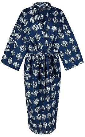 Ladies Lightweight Cotton Dressing Gown - Women s Kimono Robe 100% Cotton c2a7514d6