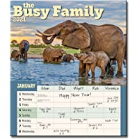 """Busy Family Wall Calendar 2021, Monthly January-December 12'' x 14"""""""