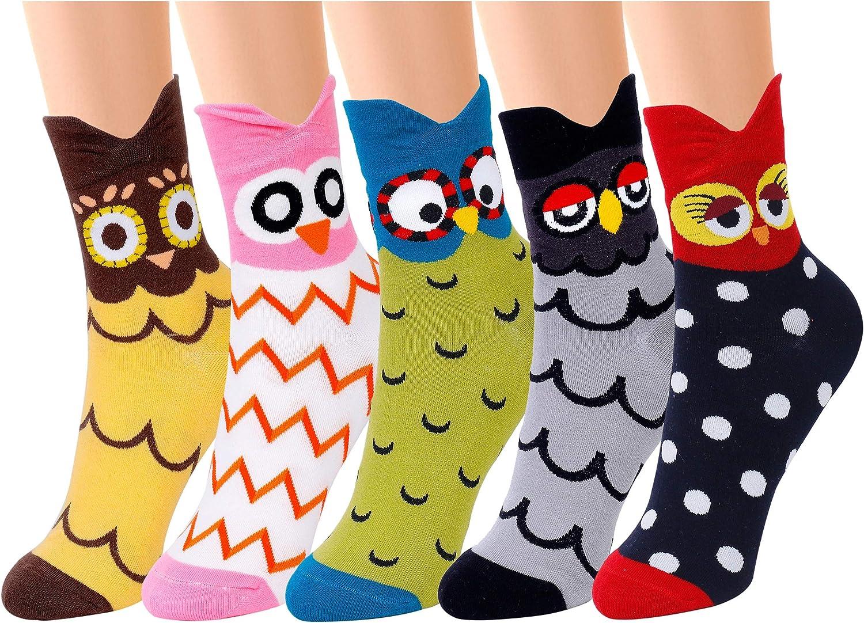 QH-shop Calcetines de Mujer Coloreados Algodón Calcetines Patrón ...