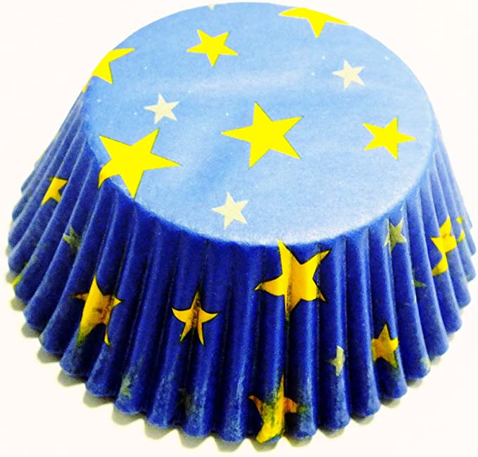 Pirottini di Carta per Cupcake e Muffin 60 Pezzi PME Fantasia Stelline