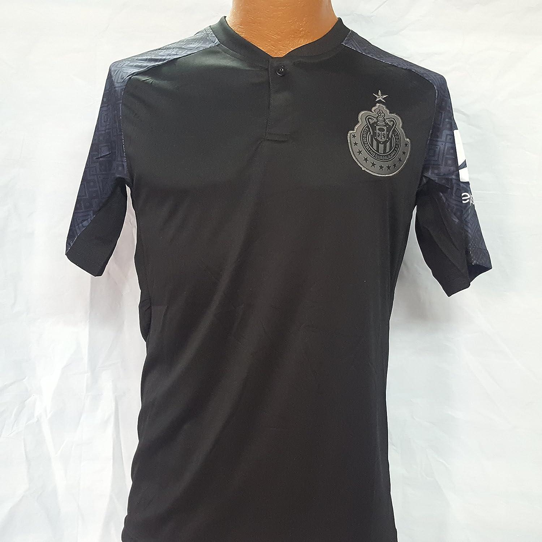 新しい。Chivas de GuadalajaraブラックGenericレプリカ大人用Jersey Liga MX。サイズX Large。 B079KK6W3G