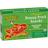 Annie's Tropical Treat Organic Bunny Fruit Snacks, 5 Pouches (Pack of 4), 0.8oz Pouches
