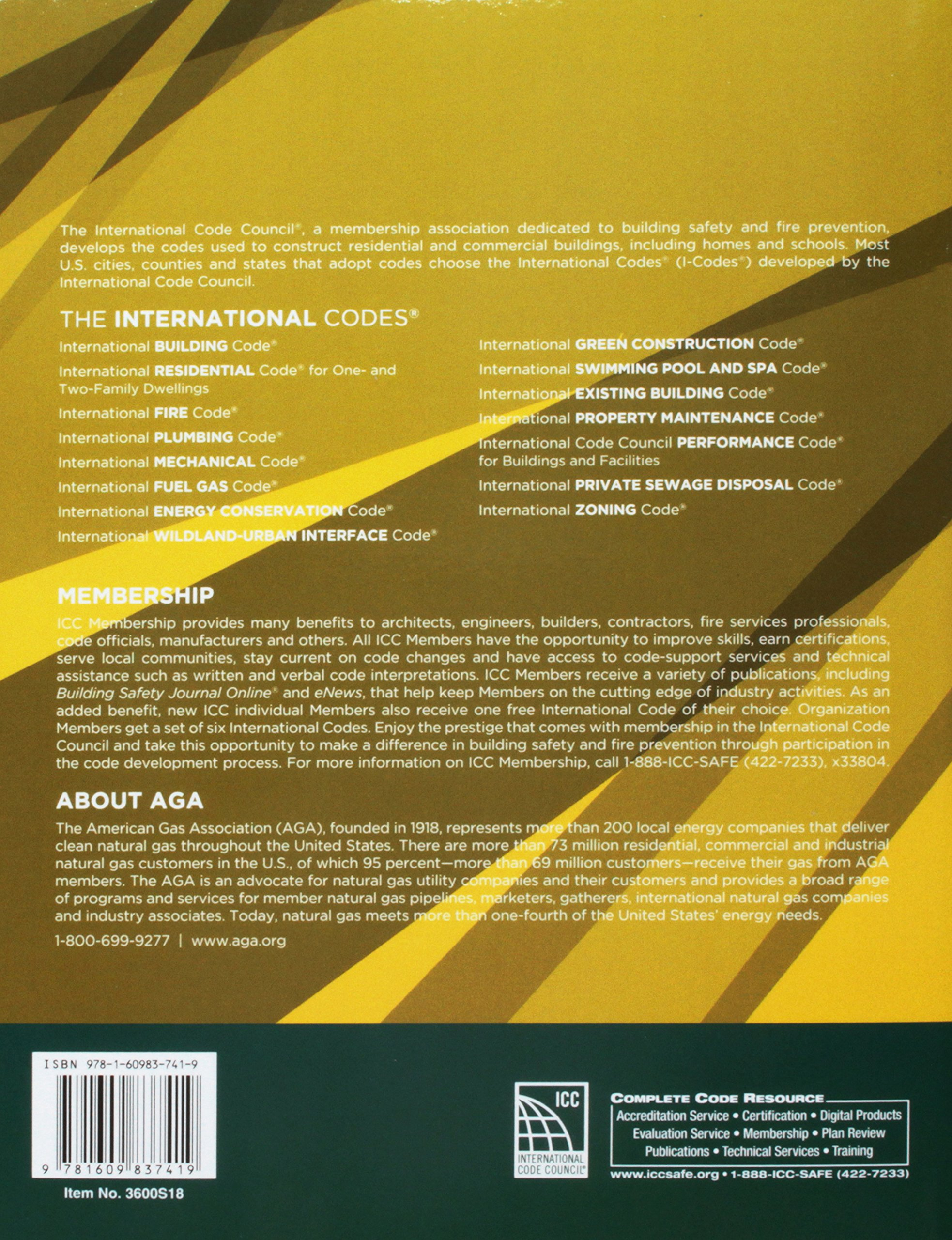 2018 International Fuel Gas Code (International Code Council Series) by ICC (distributed by Cengage Learning)