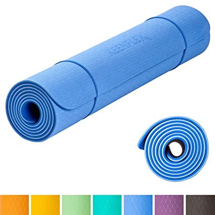 KeenFlex - Esterilla de Yoga Antideslizante y cómoda Extra Larga 6 mm de Grosor, Yoga Pilates Gimnasio Fitness