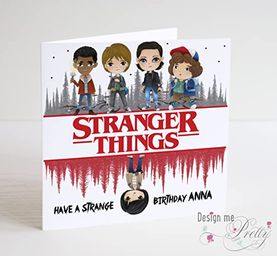 Stranger Things Personalised Birthday Card Amazoncouk Handmade