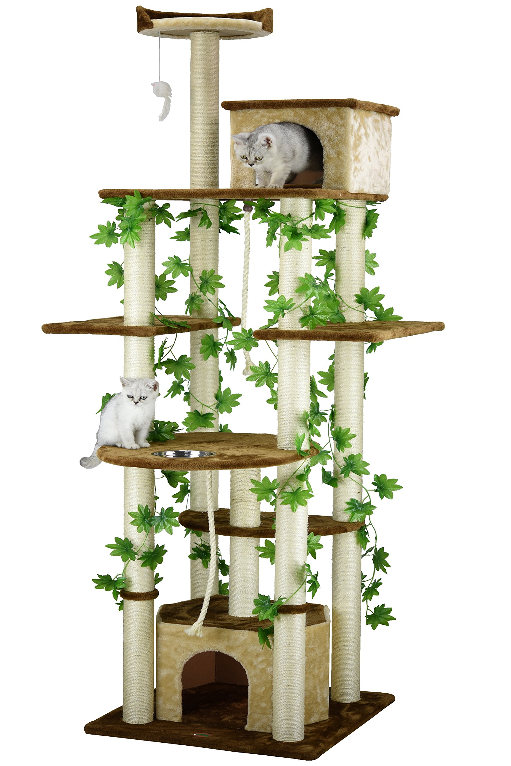 Go Pet Club F2095  Cat Tree Furniture, 85-Inch