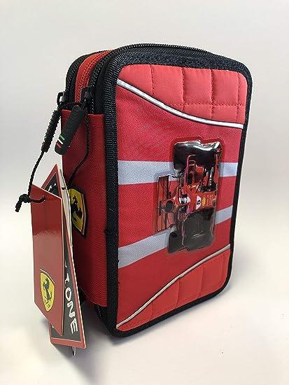 Estuche de tres pisos Ferrari: Amazon.es: Oficina y papelería