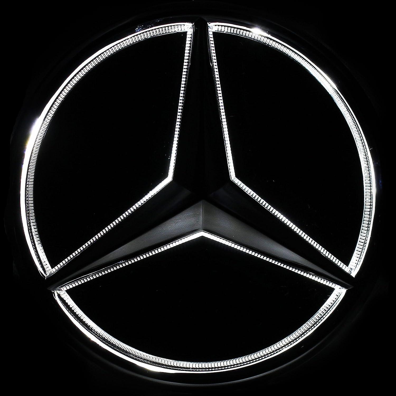 Abrillantador de Conducci/ón JetStyle LED Emblema 2005/-/2013 Auto Luces Diurnas Blanco Rejilla de Radiador Logotipo Logo Automotriz Iluminado Aros Resplandecientes