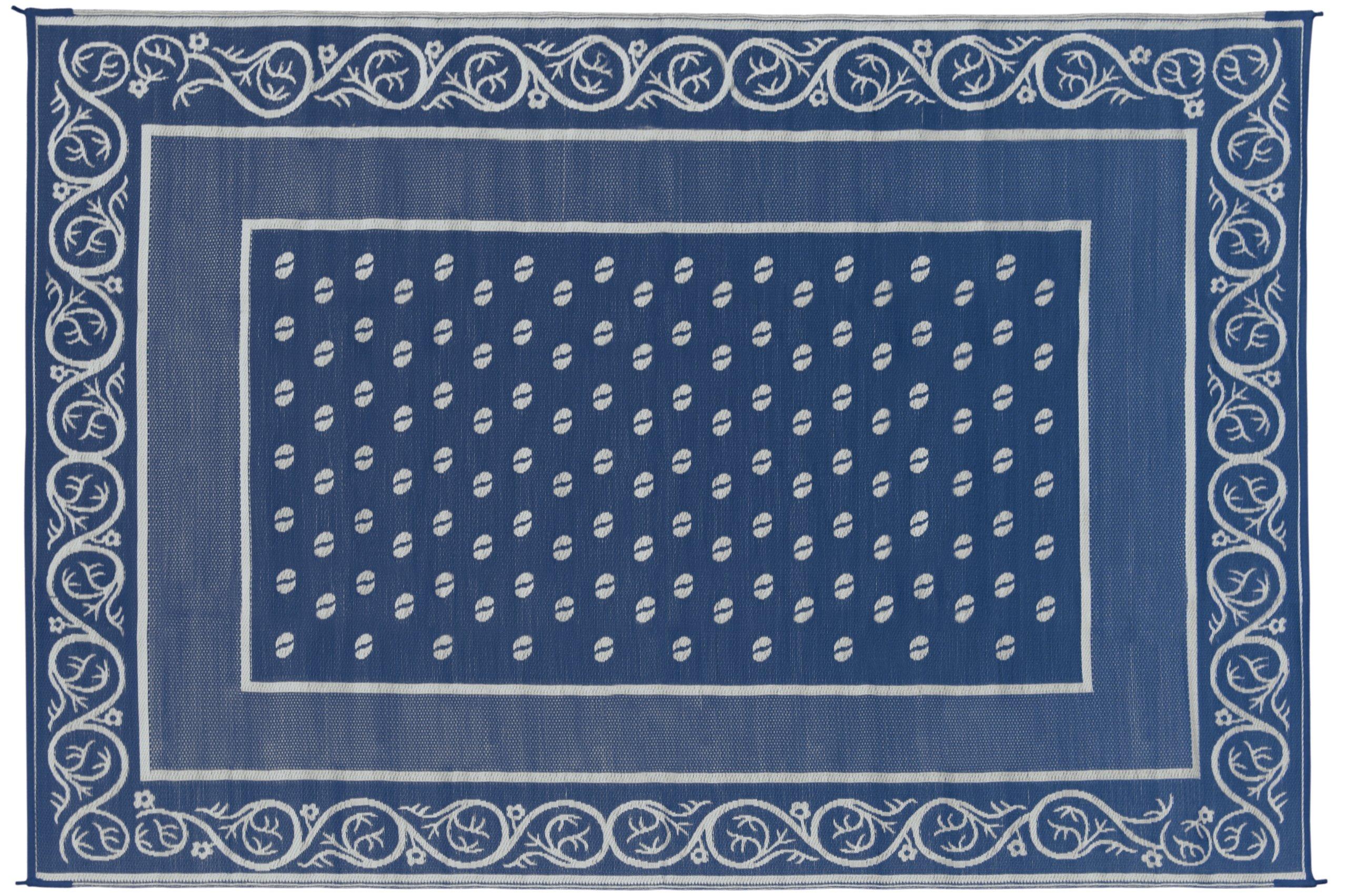 Faulkner 48701 Vineyard 9 by 12-Feet Blue Multi-Purpose Mat