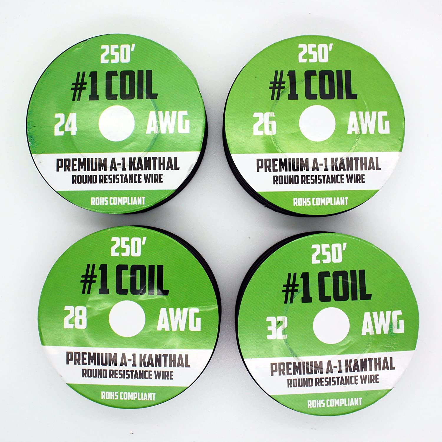Kanthal A-1 Wire 1000 ft 4 Pack - 24 26 28 32 AWG Gauge Spools ...