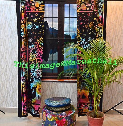 Mandala Decor Door Window Indian Curtain Hanging Tapestry Boho Hippie Valances