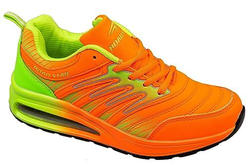Et Chaussures Léger Fluo Gibra Sport De Orange Confortable Très ZwwAqH