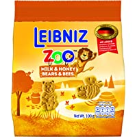 Leibniz Zoo Bears and Bees Honey Biscuit, 100g