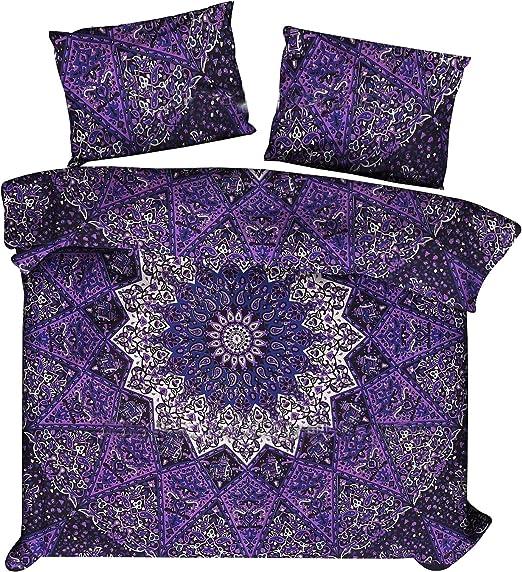 Indian Mandala Quilt Duvet Cover Bedding Cotton  Double Size Doona Cover Bed Set