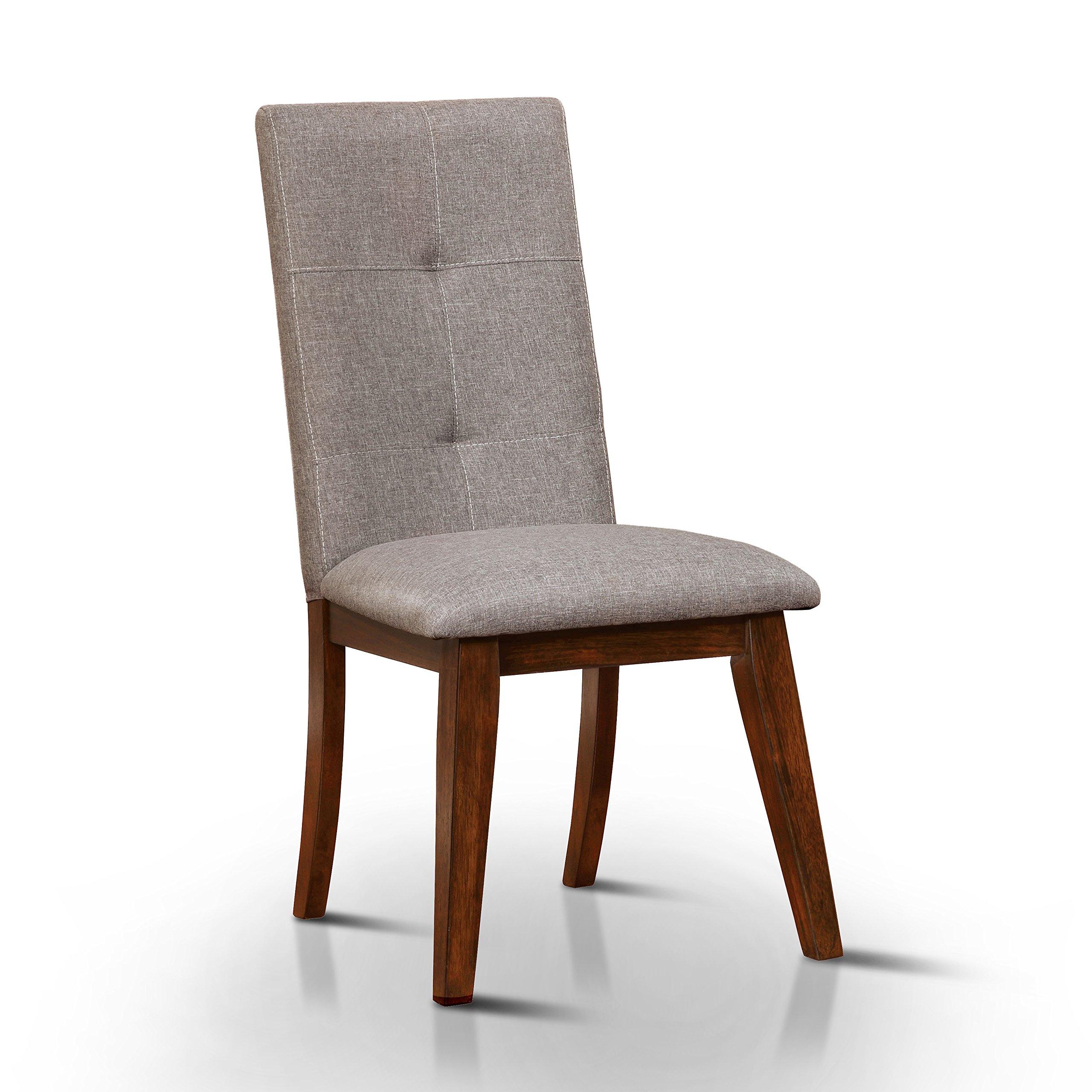 247SHOPATHOME IDF-3354SC Dining-Chairs, Walnut