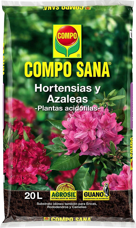 Compo Sana 8 semanas de abono para Azaleas, ericas, Camelias y hortensias, Substrato de Cultivo, 20 L