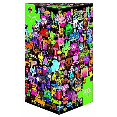 29416 - Heye Standardpuzzle 2000 Teile - Jon Burgerman - Hi, there!, 2000 Teile (KV&H Verlag): Juguetes y juegos