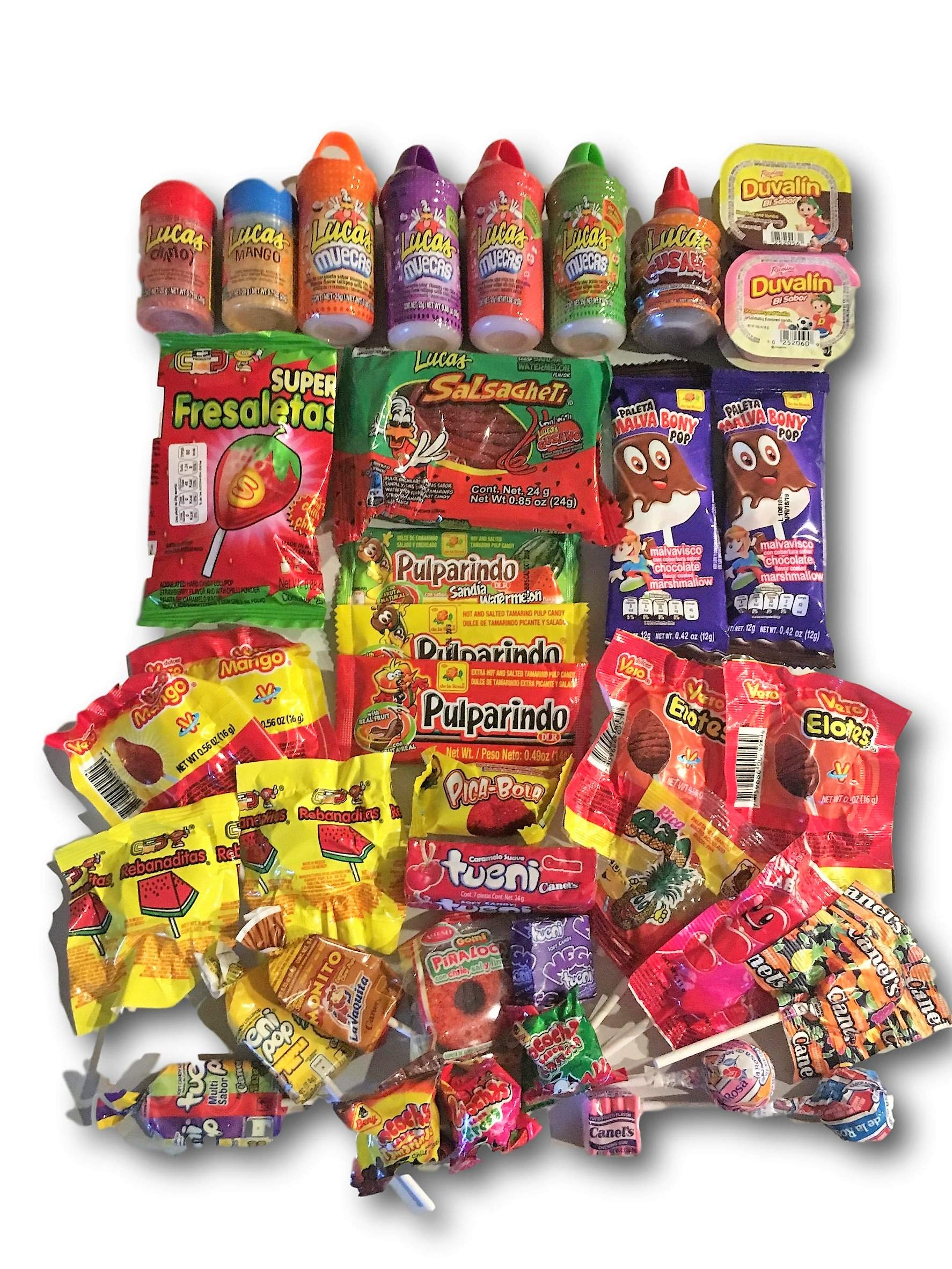 Mexican Candy Variety Care Package by AtHomePlus (40 Count) --Perfect Gift for