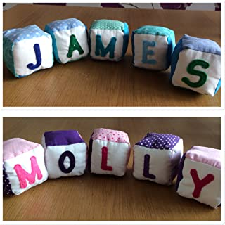 Personalised blocks toys for babies, toddlers and young children