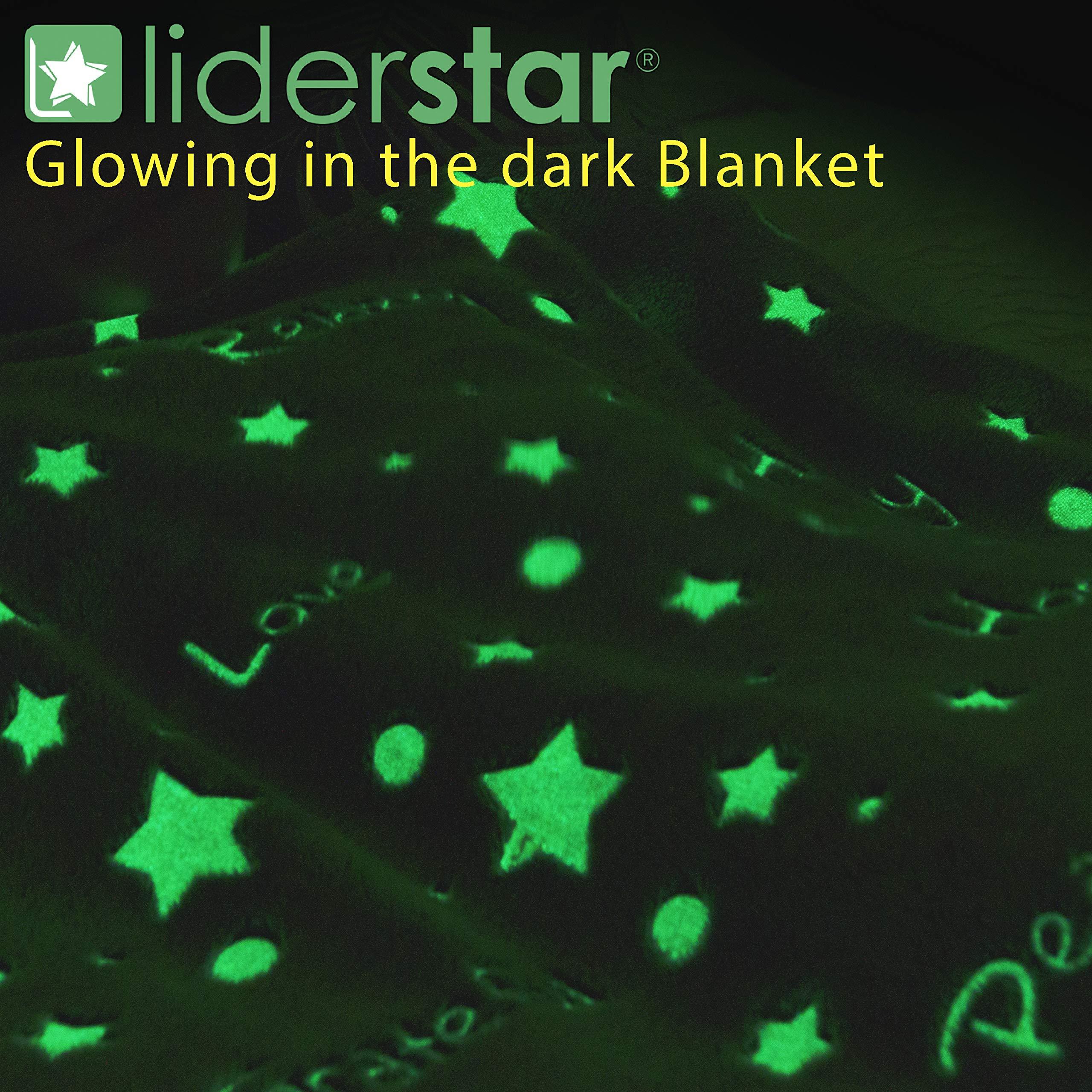 LIDERSTAR Glow in The Dark Throw Blanket 50\