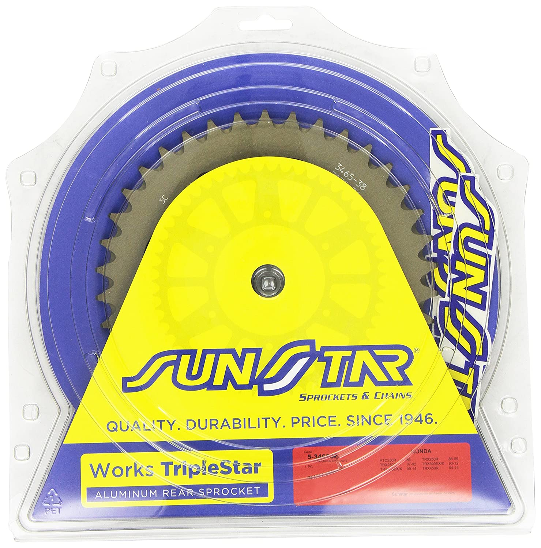 Sunstar 5-346538 Works Triplestar 38-Teeth 520 Chain Size Rear Aluminum Sprocket