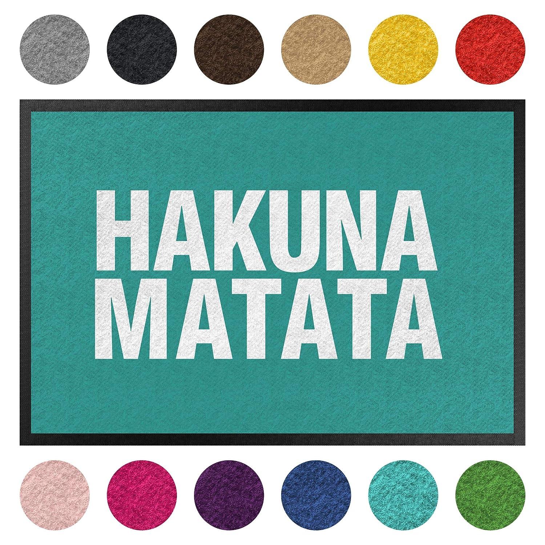 Bilderwelten Fußmatte - Hakuna Matata, Größe HxB  50cm x 70cm, Florfarbe  Anthrazit B07K8DR2B3 Fumatten