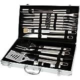 Set di posate 24pezzi Posate per barbecue BBQ Grill Set Tool Set con valigetta barbecue...