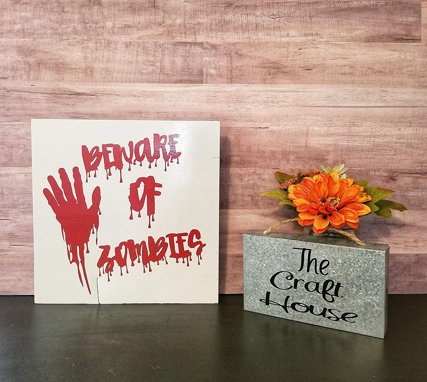 CPWood Beware of Zombies - Cartel Decorativo, diseño de ...