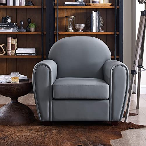 Best living room chair: Volans Modern Classic Faux Leather Upholstered Arm Accent Chair Single Sofa