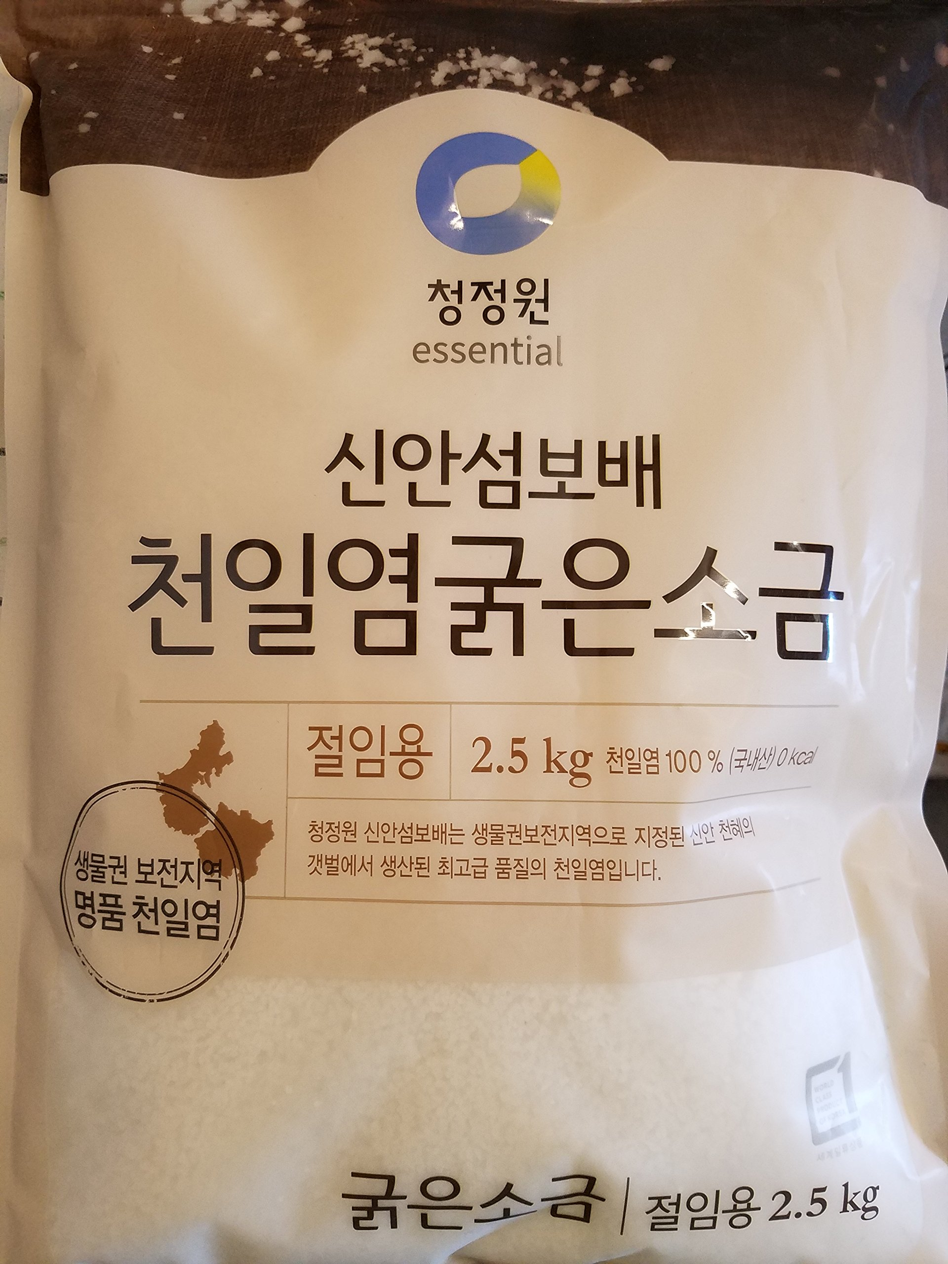 Natural Premium Sea Salt for Kimchi Brining: the Jewel of Sinan Island by Chung-Jung-One (5.5 LBS)
