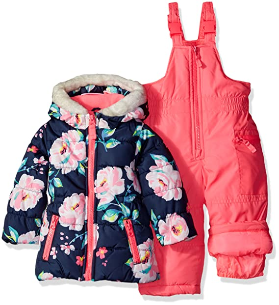 9a6f7865959 Carter's Girls' Infant 2 Pc Heavyweight Printed Snowsuit, Pink, 24 Months:  Amazon.ca: Clothing & Accessories