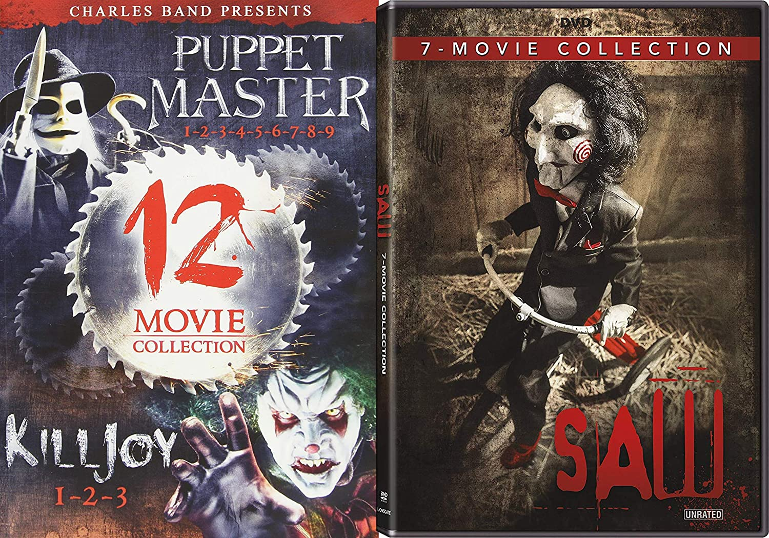 Amazon Com Nineteen Horror Movie Bonanza So Many Movies It Will Drive You Insane Puppet Master Madness 1 9 Killjoy Films 1 3 And Saw Feature Collection 1 7 Bundle Movies Tv