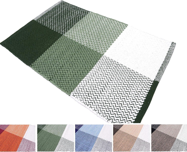 50 x 80/cm 55 x 180/cm Tapis Madrid en coton antid/érapant diff/érentes couleurs Arte Tappeti 55 x 240/cm 55 x 110/cm pour salle de bain et cuisine lavable en machine /à 30//°C 50x80cm bleu